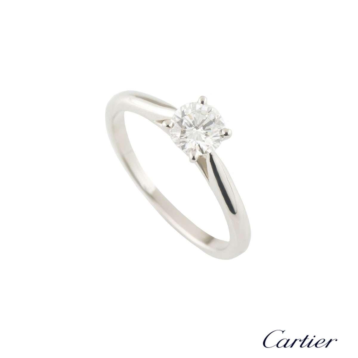 Cartier Solitaire 1895 Diamond Ring 0.42ct F/VVS2